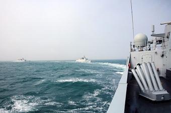 海军056型护卫舰东海实弹演习