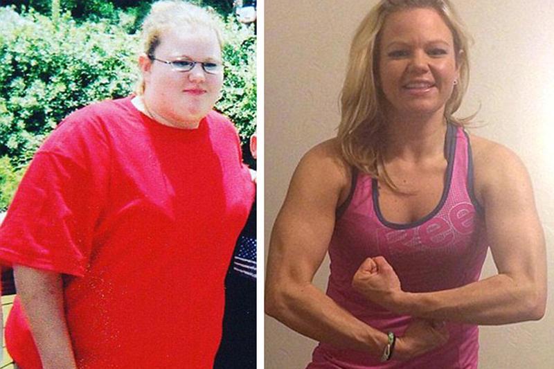 励志!她举罐子和瓶子6个月瘦掉30斤!