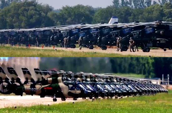 大批国产武装直升机霸气列阵