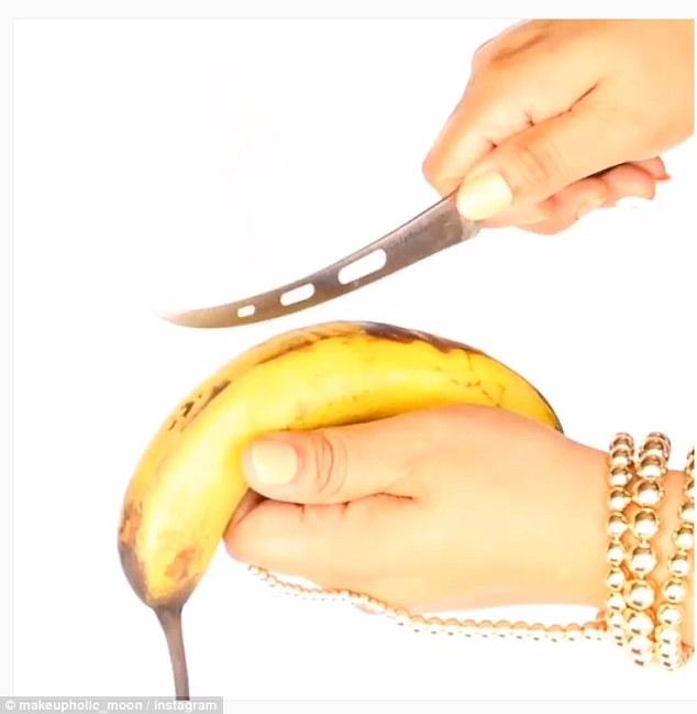 美妆博主教你如何用香蕉皮祛痘