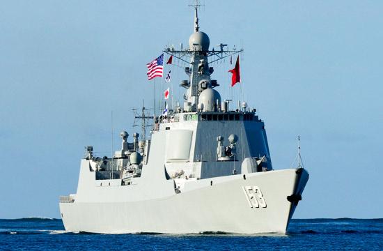中国海军舰队到达美军珍珠港