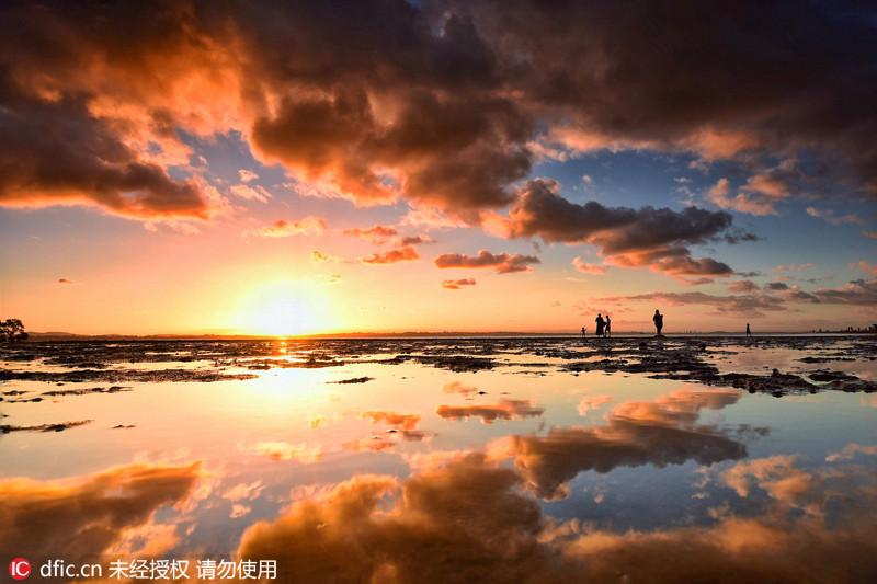摄影师澳洲海岸拍摄日落美景 - 海阔山遥 - .
