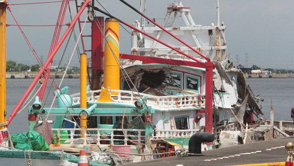 台军雄风3导弹把台湾渔船打废