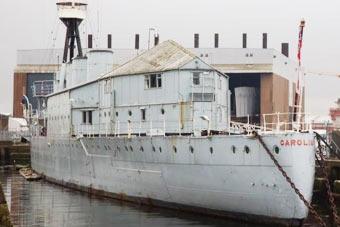 百年老舰被盖别墅成移动办公楼