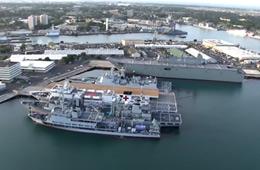 环太2016:航拍各国军舰集结珍珠港