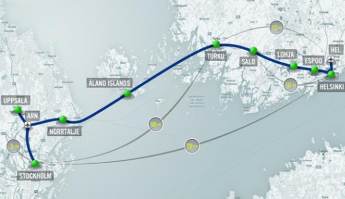 美国超级高铁公司计划建造波罗的海跨海隧道