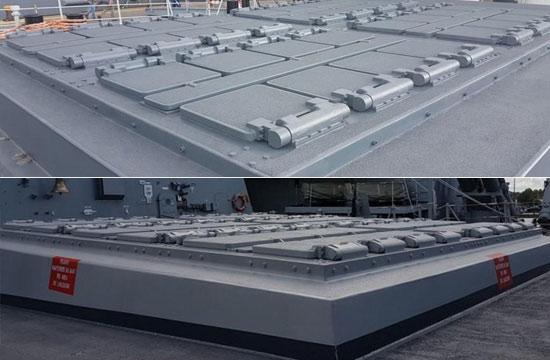 中西战舰同场开放比拼垂发装置
