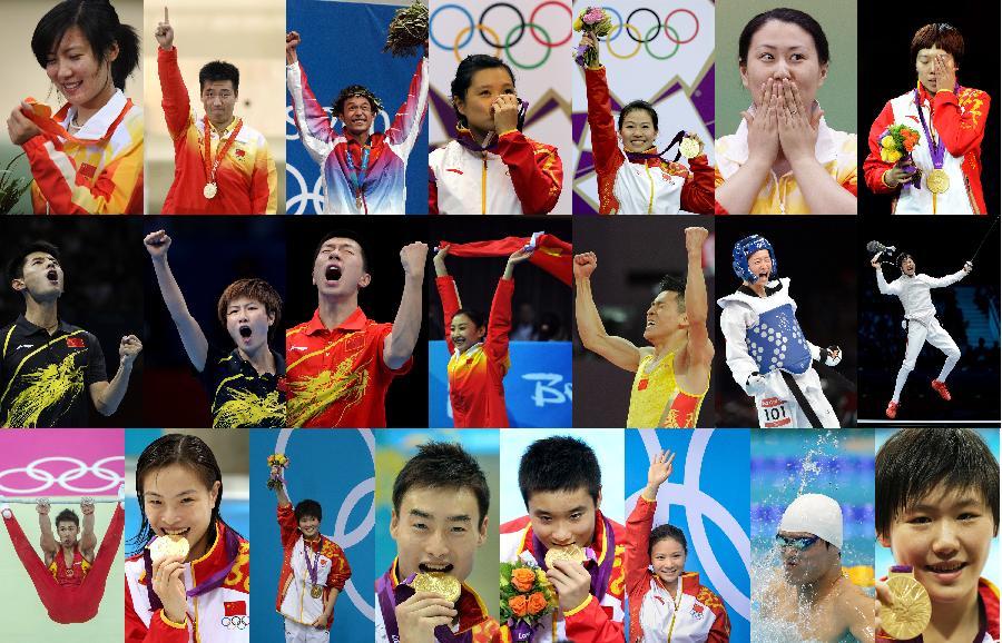 里约奥运倒计时30天:中国军团的奥运冠军们