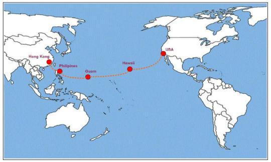 中国联通成功开通第一条跨太平洋100G电路