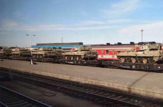 96改坦克换新涂装疑赴俄参赛