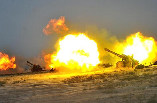 第20集团军某旅火力打击演练