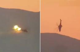 俄武装直升机打光弹药后被IS击落