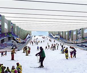盛夏去仙女山滑雪 体验酷爽温差