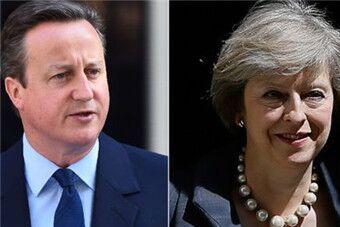 """再见!卡梅伦 英国迎来""""新铁娘子"""""""
