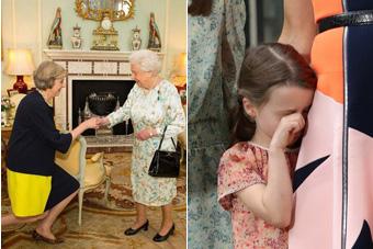 特雷莎成英新首相 卡梅伦女儿伤心落泪