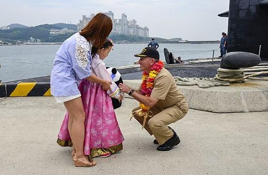 美军导弹核潜艇来中国周边