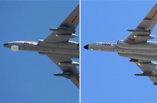 中国海空军现役轰6识别指南