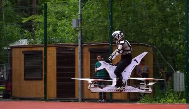 真的要上天了 世界首款飞行自行车Scorpion 1亮相