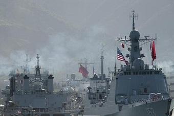 环太军演中国舰艇驶出珍珠港
