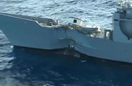 美军护卫舰被导弹鱼雷轮番狂虐