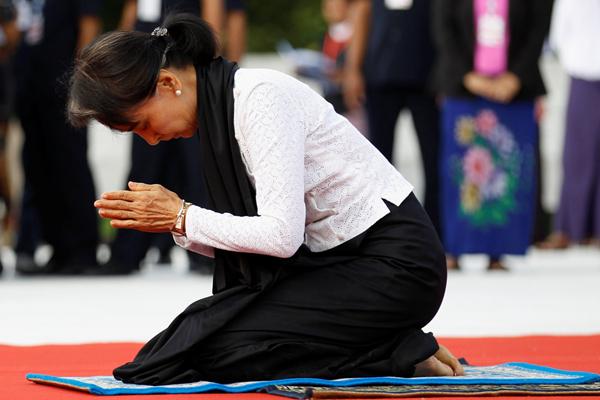 昂山素季出席缅甸烈士日纪念活动 悼念先父昂山将军