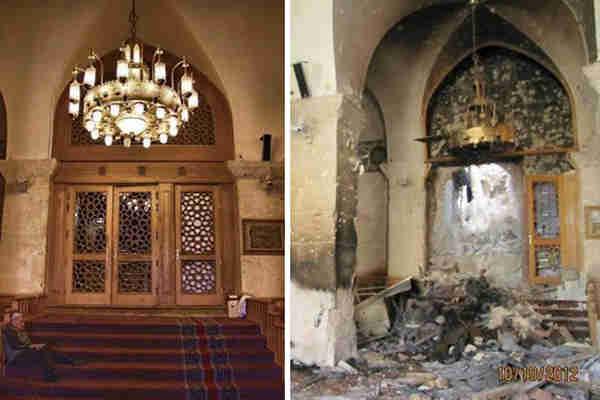 叙阿勒颇古城战争前后对比图: 战争的野蛮和残酷