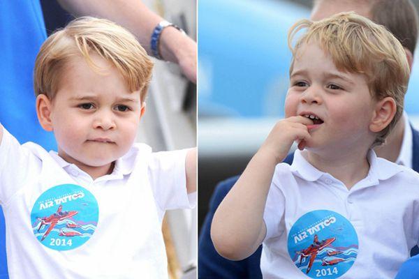 英国乔治小王子将迎3岁生日 变身爱吃手boy