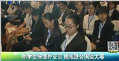 中学生扮演外交官 模拟联合国谈大事