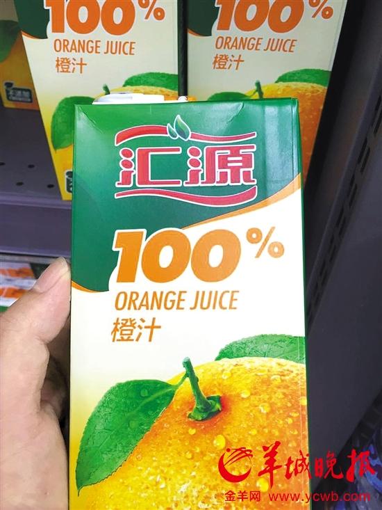 汇源100%纯果汁配料里竟然有水 律师:包装涉嫌误导