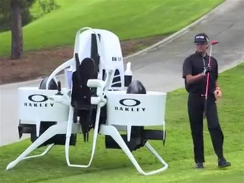 土豪们的新玩具!20万美元喷气式背包试飞