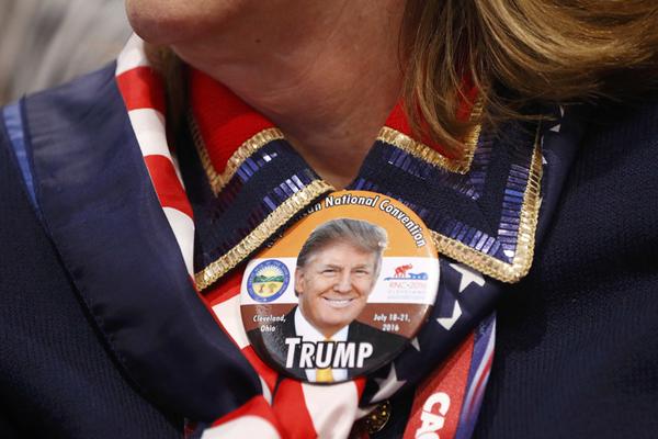 美共和党全国代表大会迎来定调日 特朗普纪念品走俏