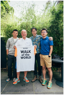 中国选手亮相荷兰百年徒步活动