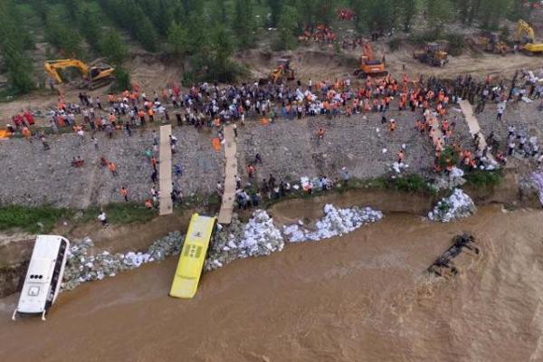 河北邢台洪灾现场