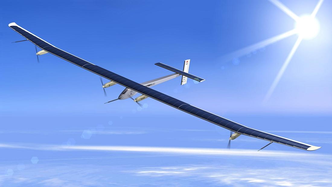 """全球最大太阳能飞机""""阳光动力2号""""将完成环球飞行"""