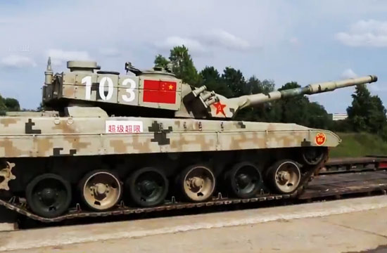 细看赴俄参赛解放军新型96坦克