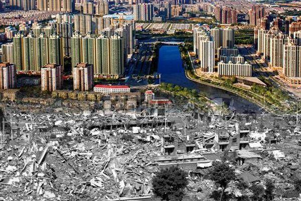 对比照记录唐山地震40周年:废墟上建起新城
