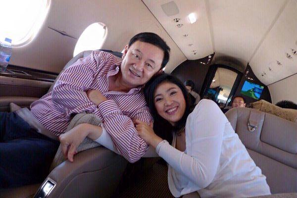 """泰国前总理英拉提前祝""""如父长兄""""他信生日快乐"""