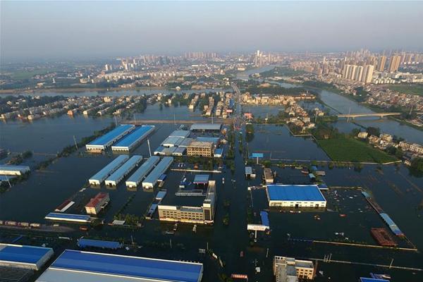 湖北天门:洪水致68万余人受灾