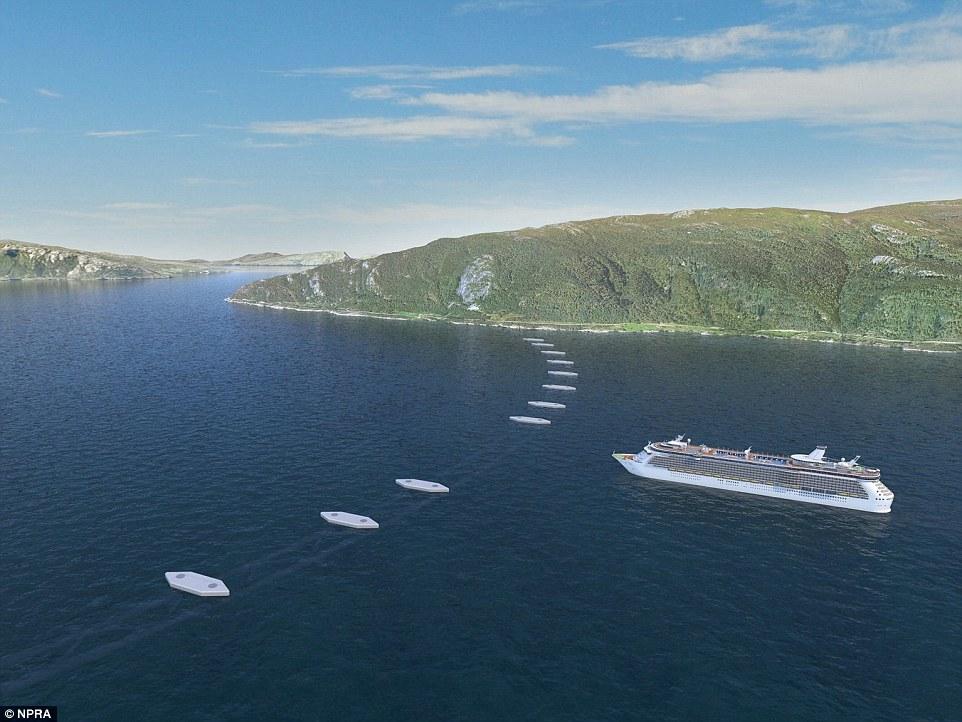 """挪威计划打造世界上第一个""""漂浮""""海底隧道"""