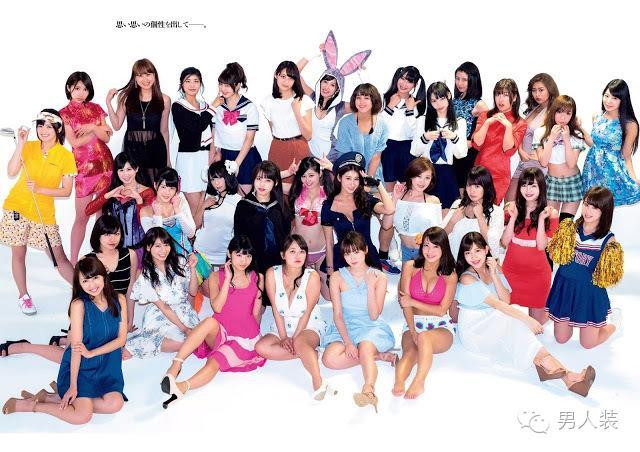 50女星一起拍写真