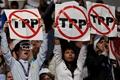 美民主党全国代表大会开幕 示威者持标语抗议TPP