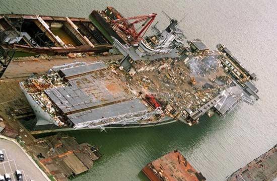 3年建成的航母拆掉却花了7年