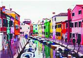 玻璃岛折射七彩光芒 威尼斯上百小岛风情万千