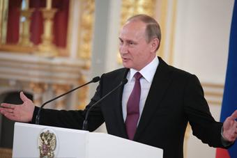 俄罗斯全队举行欢送会 普京出席并讲话