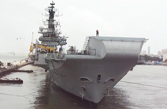 印度63岁高龄航母最后一次出航
