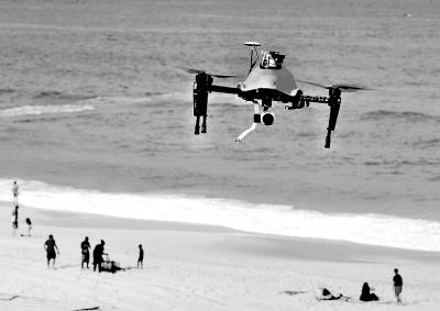 无人机将参与海滩救援