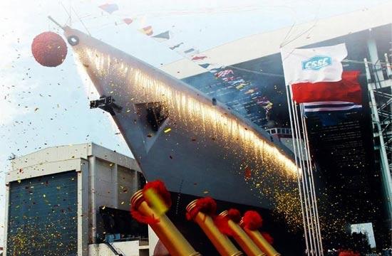 中国海军历代驱逐舰下水猛照