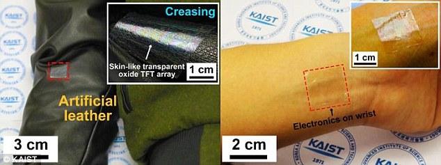 炫酷!智能设备显示屏可附着皮肤表面