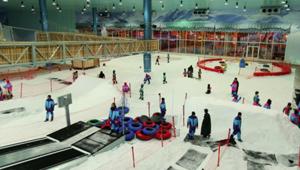 """沙漠""""雪城"""":沙特人工滑雪场"""