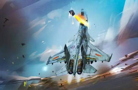 歼15飞行员张超弹射瞬间模拟图